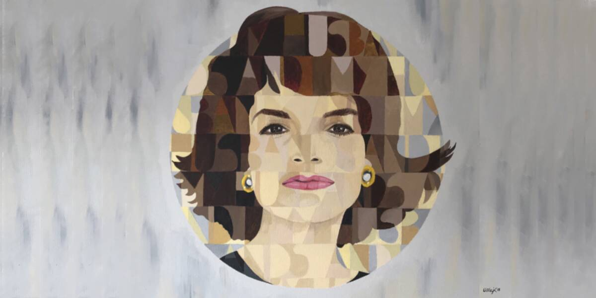 paint andy warhol style jackie kennedy onassis