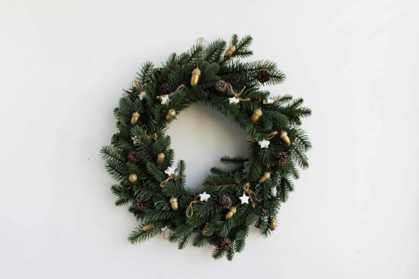 christmas wreath for small space