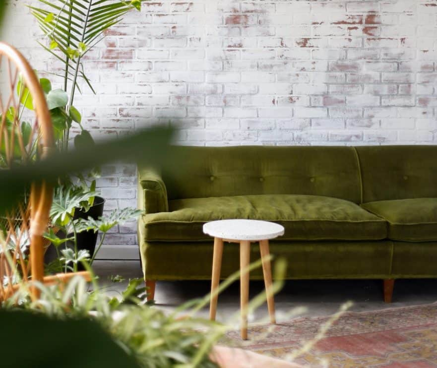 green sofa scandi design trends 2020 what is the color of the year