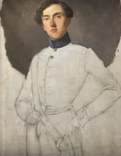 Portrait of an Austrian officer by Giuseppie Molteni, oil on canvas