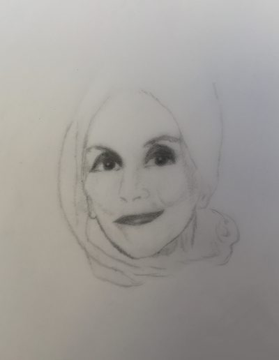 Karen Blixen sketch, London 2019