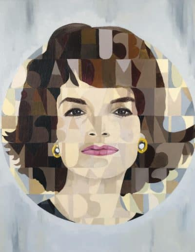 Jackie Kennedy, Acrylic on Canvas, Pop Art, by Ullajk 2018