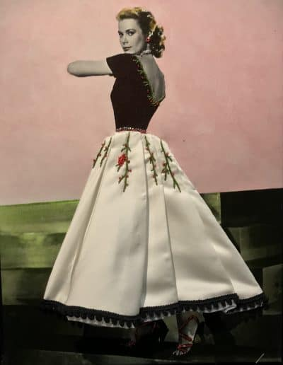 Grace Kelly, mixed media on canvas by Olivier Camen