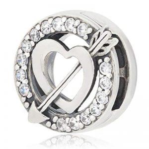 Pandora charm bead heart 925 stirling silver
