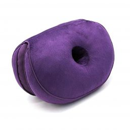 Soft and comfortable dual sit bone cushion with two holes