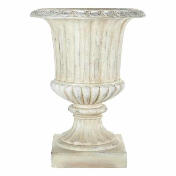 large white garden urn