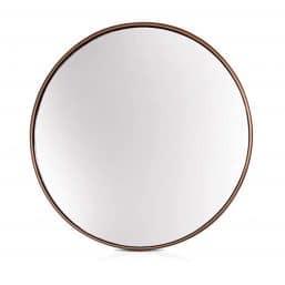 Minimalist round mirror