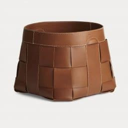 Ralph Lauren leather storage basket