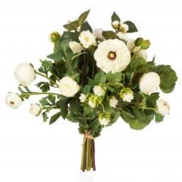 Artificial Ranunculus & Hop Bunch - White