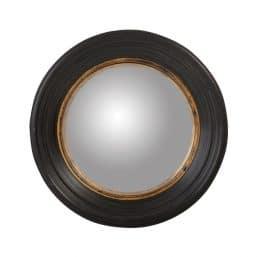 rRund coastal style mirror with black frame