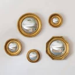 Porthole style mirrors