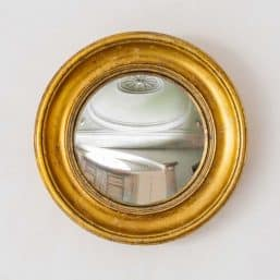 Port hole mirror with golden frame