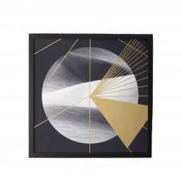 Framed abstract print - globe