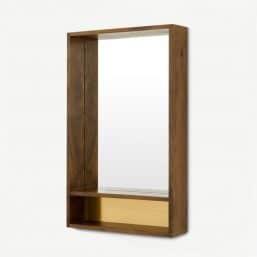 Retro mirror with shelf