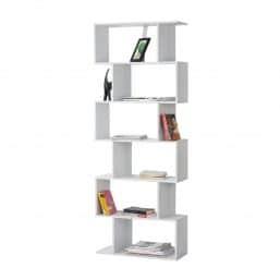 Modern white book storage system