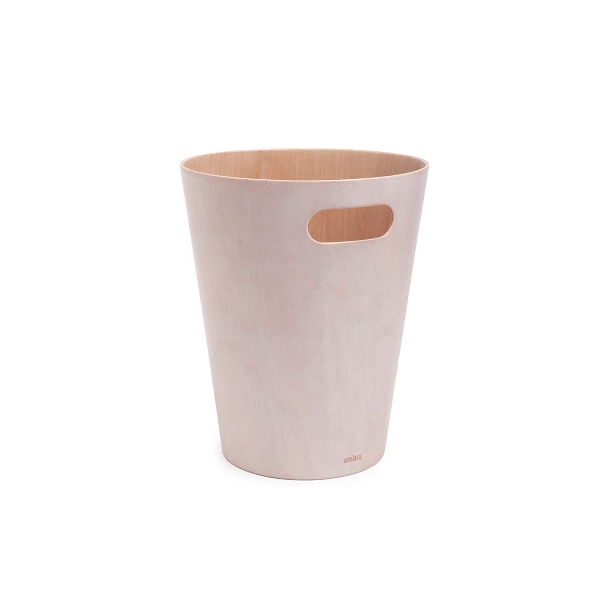 Bent wood wastepaper basket