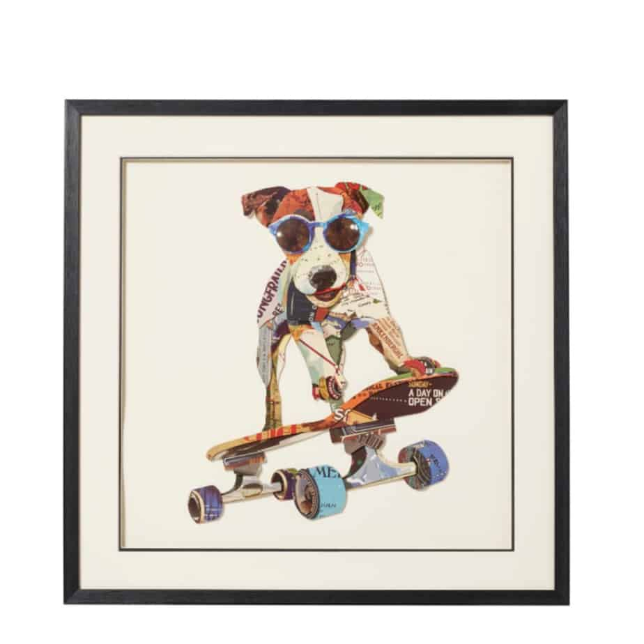 Skateboarding Jasper Hound Collage