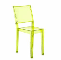 Yellow plexiglass chair