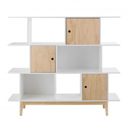 Retro bookcases and shelves