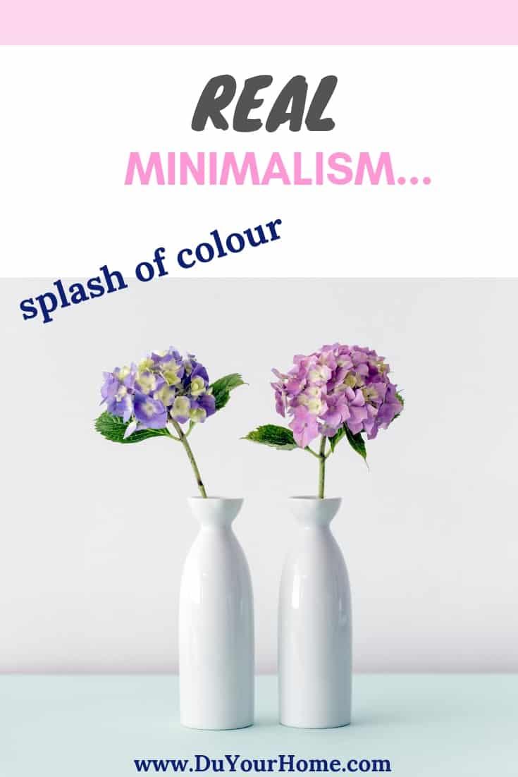 flowers in minimalist white vases