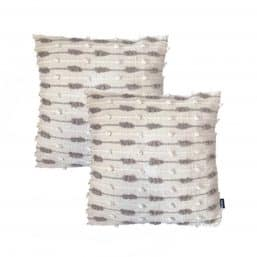 Textured cushions in Scandi and Eastern styles