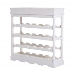 White wood wine rack