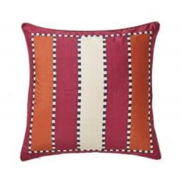 Red hot Scandi Boho style cushion cover