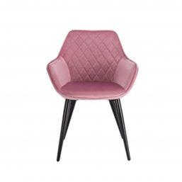 Pink velvet dining chair