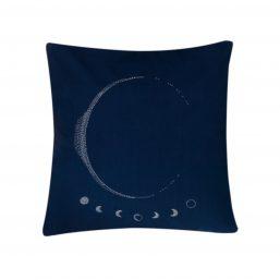 Dark moon themed cushion cover