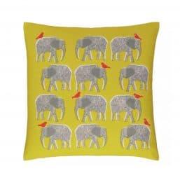 Elephant themed cushion cover