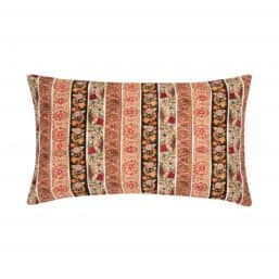 Multi colour print and embroidery cushion cover