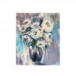 Marian Skromova oil painting flowers