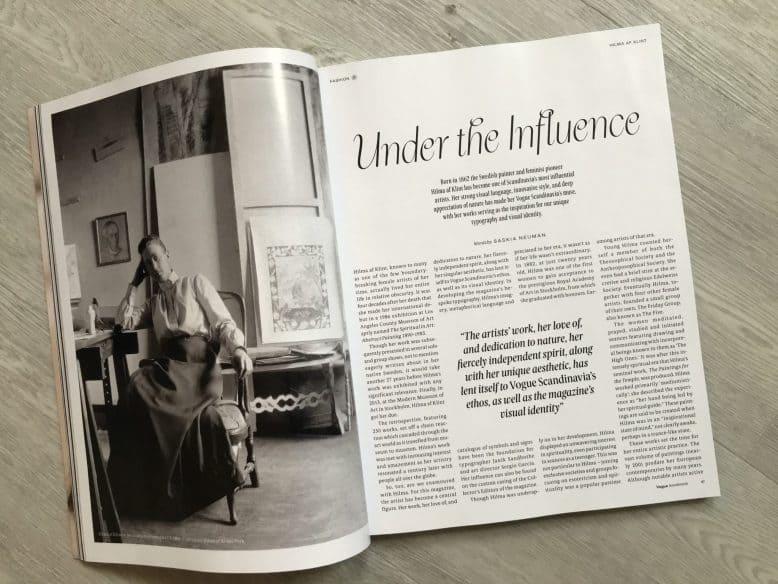 Vogue Scandinavia spread - Influence