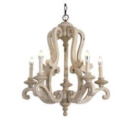 Rustic wooden chandelier