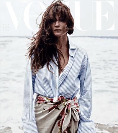 Helena Christensen on Vogue Scandinavia